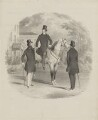 Possibly Alfred, Count D'Orsay and two unknown sitters, by Unknown artist - NPG D35355