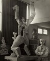 Ossip Zadkine with 'The Destroyed City', by Ida Kar - NPG x132772
