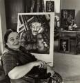 Nadia Khodossevitch-Léger with her portrait of Fernand Léger., by Ida Kar - NPG x132777