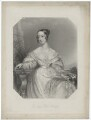 Lady Flora Elizabeth Hastings, by and published by William Finden, by and published by  Edward Francis Finden, printed by  McQueen (Macqueen), after  E. Hawkins - NPG D35573