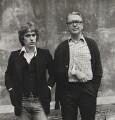 Martin Amis; Kingsley Amis, by Dmitri Kasterine - NPG P1320