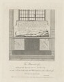 Tomb of Lady Frances Kniveton (née Dudley), published by Nathaniel Smith, and published by  John Thomas Smith - NPG D35598