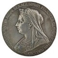 Queen Victoria, by George William De Saulles, after  Sir Thomas Brock, after  William Wyon - NPG D36107