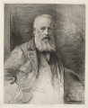 James Clarke Hook, by Otto Theodor Leyde, printed by  Chardon-Wittman, after  Sir John Everett Millais, 1st Bt - NPG D35956