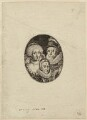 Anne of Denmark; King Charles I when Prince of Wales; King James I of England and VI of Scotland, by Simon de Passe - NPG D27683