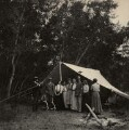 'General Palmer camping out' (William Jackson Palmer with others), by Unknown photographer - NPG Ax68455