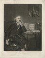 John Hunter, by William Overend Geller, printed by  S.H. Hawkins, published by  Henry Benham, after  Sir Joshua Reynolds - NPG D36396
