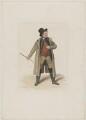 John Emery as Dandie Dinmont in Terry's 'Guy Mannering', by Joseph John Jenkins, printed by  E. Brain, published by  William McDowall, after  Samuel De Wilde - NPG D36180