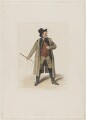 John Emery as Dandie Dinmont in Terry's 'Guy Mannering', by Joseph John Jenkins, printed by  E. Brain, published by  William McDowall, after  Samuel De Wilde - NPG D36181