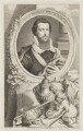 Robert Devereux, 2nd Earl of Essex, by Jacobus Houbraken, published by  John & Paul Knapton, after  Isaac Oliver - NPG D36564
