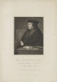 Thomas Cromwell, Earl of Essex, by William Holl Sr, published by  Lackington, Allen & Co, and published by  Longman, Hurst, Rees, Orme & Brown, after  Robert William Satchwell, after  Hans Holbein the Younger - NPG D36565