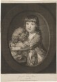 Sir Joseph Sydney Yorke aged three years, by Valentine Green, published by  John Boydell, after  Katharine Read - NPG D36255