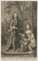 William Villiers, 2nd Earl of Jersey; Mary Granville (née Villiers) Lady Lansdowne, by and published by John Smith, after  Sir Godfrey Kneller, Bt - NPG D36508