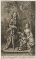 William Villiers, 2nd Earl of Jersey; Mary Granville (née Villiers) Lady Lansdowne, by and published by John Smith, after  Sir Godfrey Kneller, Bt - NPG D36509