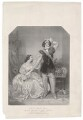 Charles John Kean and Eleanora ('Ellen') Kean (née Tree) as Sir Walter and Lady Amyott in Lovell's 'The Wife's Secrets', by Richard James Lane, printed by  M & N Hanhart, published by  John Mitchell, after  Alfred Edward Chalon - NPG D36755