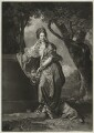 Catherine Wodhull, by Richard Houston, published by  Robert Sayer, after  Johan Joseph Zoffany - NPG D36311