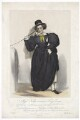 Frances Maria Kelly as Lady Savage, by Francis William Wilkin, printed by  Graf & Soret, published by  Ackermann & Co - NPG D36786