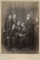 'Authors' (John Stuart Mill; Charles Lamb; Charles Kingsley; Herbert Spencer; John Ruskin; Charles Darwin), published by Hughes & Edmonds - NPG Ax132900