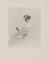 Ellen Power ('My Wife'), by Henry Thomas Ryall, republished by  Thomas Boys, and republished by  Ernest Gambart & Co, after  Sir Edwin Henry Landseer - NPG D37155