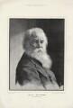 Walt Whitman, by Moritz Klinkicht, supplement to the  Illustrated London News, after  Napoleon Sarony - NPG D37573