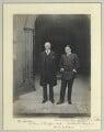 Arthur James Balfour, 1st Earl of Balfour; Sir Ernest Henry Shackleton, by Sir (John) Benjamin Stone - NPG x87729