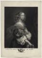 Christina, Queen of Sweden, by Pierre Alexandre Tardieu, after  Ignatius Joseph van den Berghe, after  Sébastien Bourdon - NPG D38702