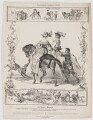 Equitation Anglaise 1658, by Charles Aubry, printed and published by  Charles Etienne Pierre Motte - NPG D38716