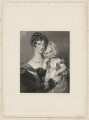 Mrs Walters and child, by Alfred Edward Chalon, after  George Thomas Doo - NPG D38523