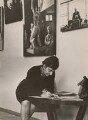 Ida Kar signing catalogues at her exhibition in Moscow, by B. Baldin - NPG x133332