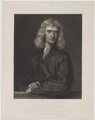 Sir Isaac Newton, by Thomas Oldham Barlow, published by  Moore, McQueen & Co, after  Sir Godfrey Kneller, Bt - NPG D38743