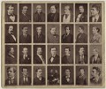 Group of 29 actors, after Lock & Whitfield, and  Elliott & Fry, and  Fradelle & Marshall, and  Pierre Petit, and  Louis Bertin, and  Unknown photographers - NPG x132955