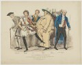 Charles Mathews as six characters in 'Stories', printed by McQueen & Co, published by  Colnaghi & Co, after  Charles Mathews - NPG D38320