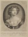Hortense Mancini, Duchess of Mazarin, by Abraham de Blois, published by  Nicolaes Visscher II, after  Sir Peter Lely - NPG D38349