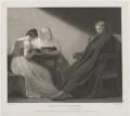 'John Milton and his two daughters' (Deborah Milton; Mary Milton; John Milton), by Benjamin Smith, published by  John Boydell, published by  Josiah Boydell, published by  George Nicol, after  George Romney - NPG D38839