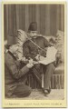 Nasser al-Din, Shah of Persia with an attendant, by A.J. (Arthur James) Melhuish - NPG x134169
