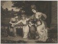 A Lady and her Children, by and published by Thomas Watson, after  Daniel Gardner - NPG D39322