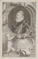 Charles Howard, 1st Earl of Nottingham, by Jacobus Houbraken, published by  John & Paul Knapton, after  Daniel Mytens - NPG D39328