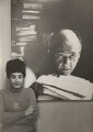 Ida Kar with her portrait of Eugène Ionesco, by V. Stepanets - NPG x134223