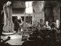 Jacob Epstein's studio (including sculptures Social Consciousnes and Ecce Homo), by Ida Kar - NPG x134333