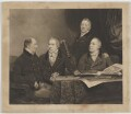 Henry Phipps, Viscount Normanby and Earl of Mulgrave; Sir George Howland Beaumont, 7th Bt; Edmund Phipps; Augustus Phipps, by William James Ward, after  John Jackson - NPG D39087