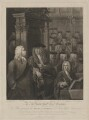 House of Commons, 1730, by Anthony Fogg, published by  Edward Harding, after  William Hogarth, and after  Sir James Thornhill - NPG D39372