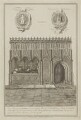 Rahere (Rayer) ('The Monument of Raherus'), by James Basire, published by  Society of Antiquaries: London: UK, after  John Carter - NPG D39179