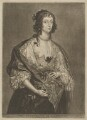 Mary Villiers, Duchess of Richmond and Lennox, by and published by Jan van der Bruggen, after  Sir Anthony van Dyck - NPG D39729