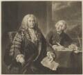 Henry Pelham; John Roberts, by Richard Houston, after  John Shackleton - NPG D40108