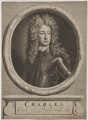Charles Mordaunt, 3rd Earl of Peterborough, by and published by Pieter Stevens van Gunst, after  Sir Godfrey Kneller, Bt - NPG D40172