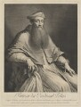 Unknown man engraved as Reginald Pole, by Nicolas de Larmessin III, after  Sebastiano del Piombo - NPG D40291