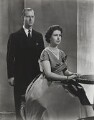 Prince Philip, Duke of Edinburgh; Queen Elizabeth II, by Donald McKague - NPG P1591