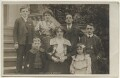 'Dan Leno & Family' (including Dan Leno and Sarah Lydia Galvin (née Reynolds)), by King, published by  Rotary Photographic Co Ltd - NPG Ax160175