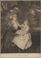 Mrs Seaforth ('A Lady and Child'), by Joseph Grozer, after  Sir Joshua Reynolds - NPG D40623