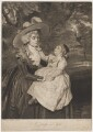Mrs Seaforth ('A Lady and Child'), by Joseph Grozer, after  Sir Joshua Reynolds - NPG D40624